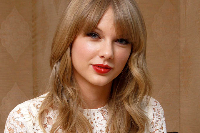 A cantora coutry norte-americana Taylor Swift