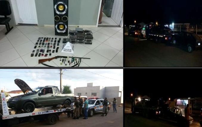 Produtos apreendidos durante a operação – Foto: Divulgação / Polícia Militar de Capelinha