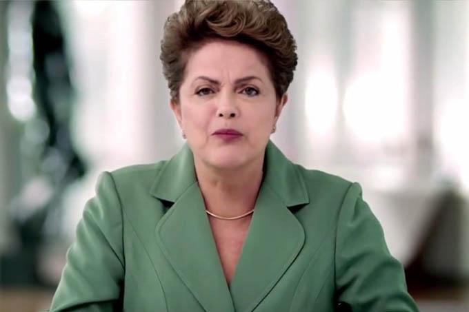 A presidenta Dilma Roussef durante o seu pronunciamento no Dia Internacional da Mulher: nada sobre coisa nenhuma!