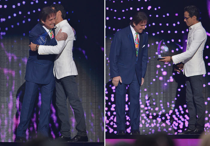 Roberto Carlos em premiação Billboard da Música Latina 2015
