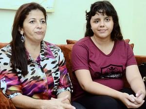 Jéssica e sua mãe