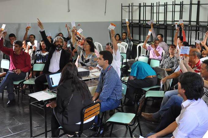 Representantes de 41 municípios estiveram presentes ao encontro, que foi promovido na Escola Estadual Alfredo Sá
