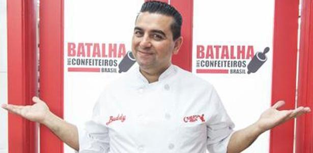 """Buddy Valastro, o Cake Boss, no reality """"A Batalha dos Confeiteiros"""", da Record"""