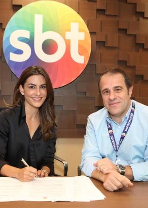 Ticiana assinou contrato com o SBT em abril