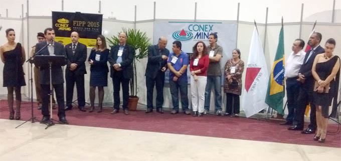 O presidente do Sindcomércio, Iêsser Lauar, faz o seu pronunciamento de abertura da CONEX MINAS e da FIPP 2015