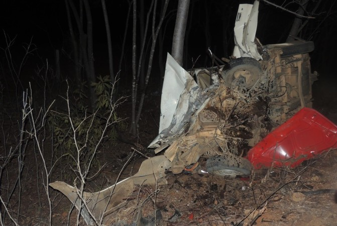 Acidente aconteceu no KM 18 da MGC-401 – Foto: Blog Oliveira Júnior