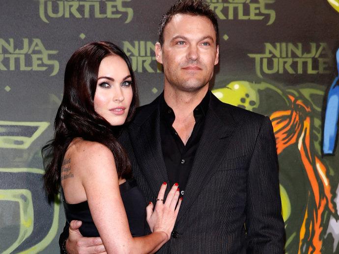 Megan Fox e o ex-marido Brian Austin Green