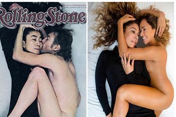 Em capa do novo disco, cantora aparece abraçada a Malu Verçosa, assim como o ex-beatle fez com Yoko Ono em uma capa da revista americana 'Rolling Stone', em 1981