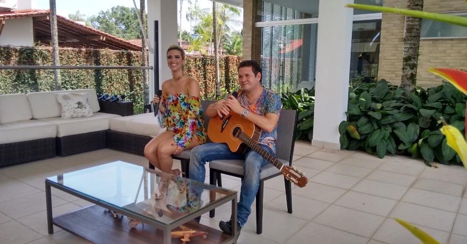 Chimbinha apresenta Thábata em Belém e diz que terá música nova em novembro