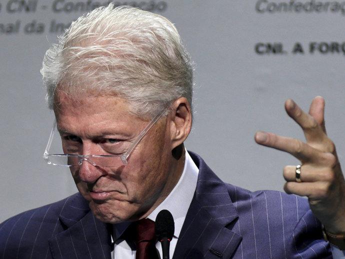 O ex-presidente americano Bill Clinton no evento da CNI em Brasília (VEJA.com/Reuters)