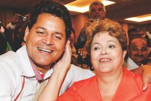 O então candidato a deputado estadual Daniel Sucupira recebe o carinho da presidenta Dilma (foto: facebook)