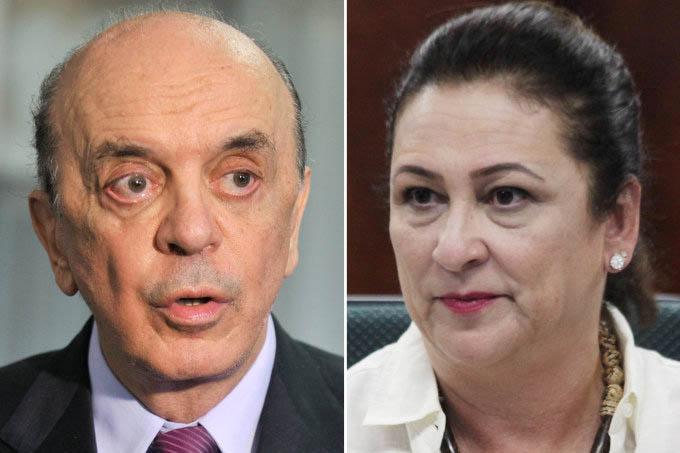 O senador José Serra e a ministra da Agricultura Katia Abreu (Agência Senado/Ministério da Agricultura/Divulgação)