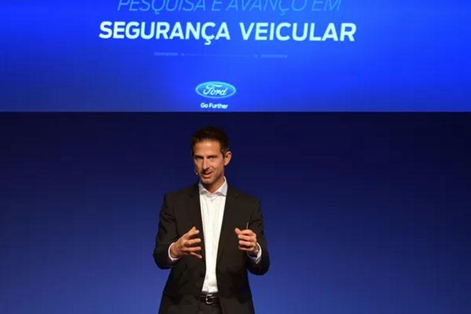"""Thomas Lukaszewicz, chefe de desenvolvimento da Ford na Europa, em visita ao Brasil. """"Carros autônomos não são infalíveis"""", diz (Foto: Divulgação)"""