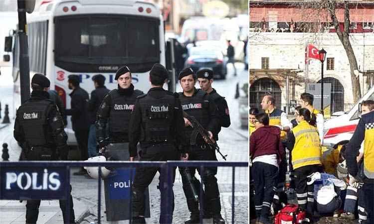 Suposto atentado aconteceu nas proximidades da mesquita de Santa Sofia, um dos pontos turísticos mais visitados de Istambul - Foto: OZAN KOSE/ AFP PHOTO e AFP / STR)