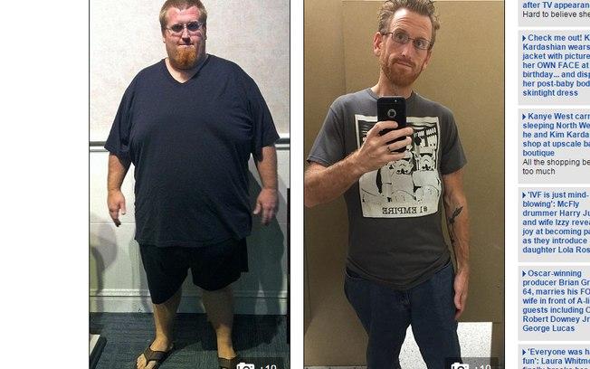 Hoje Zach caminha diariamente e também se alimenta de forma saudável