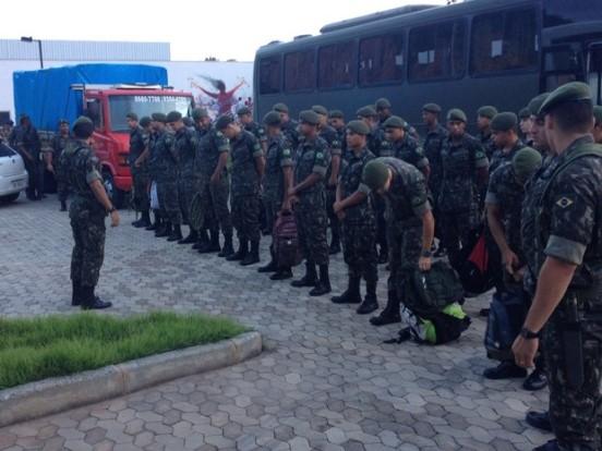 Militares chegaram em Coronel Fabriciano nessa segunda-feira (15) e começam os trabalhos nesta terça-feira (16) - Foto: Assessoria de Coronel Fabriciano )