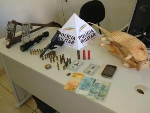 Materiais apreendidos pela Polícia Militar - Foto: Divulgação / Polícia Militar