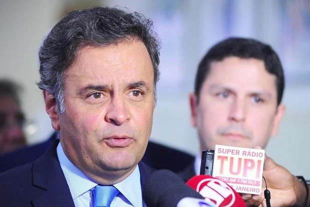 ''A ideia é não arredar um milímetro'', garantiu Aécio (foto: George Gianni/PSDB)