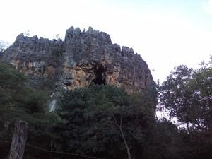 Local onde rapaz fazia escalada (Foto: Corpo de Bombeiros/Divulgação)