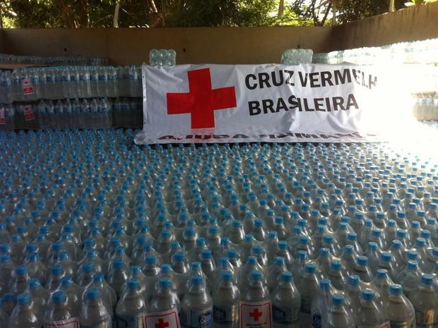 Aproximadamente 126 mil litros de água serão distribuídos em Belo Oriente (Foto: Patrícia Belo/G1)