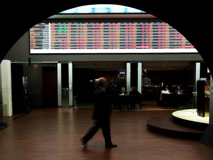 Movimentação da bolsa de valores, na Bovespa região central de São Paulo (Paulo Whitaker/Reuters)