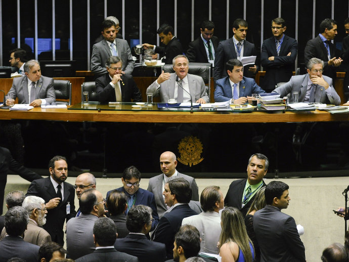 Plenário da Câmara dos Deputados durante sessão conjunta do Congresso Nacional destinada à apreciação de 24 vetos, 2 projetos de resolução e do PL (CN) 1/2016, que altera a meta fiscal - 24/05/2016 (Moreira Mariz/Ag. Senado)