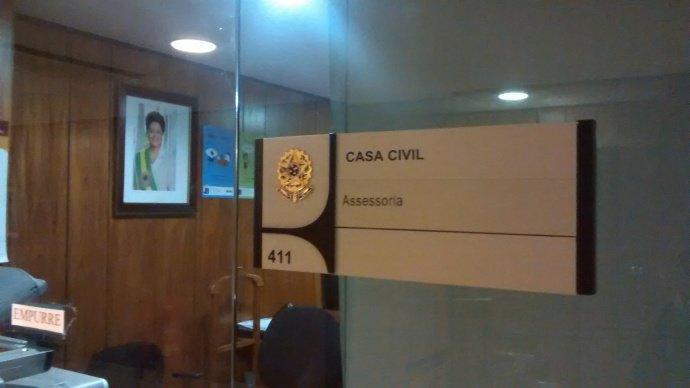 Dilma: só uma fotografia na parede (Felipe Frazão/VEJA)