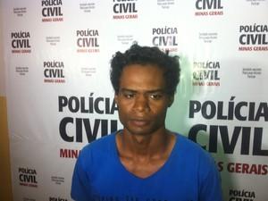 Jucimar Camilo, de 30 anos, foi preso em Nova Vernécia (ES) (Foto: Sávio Scarabelli/G1)