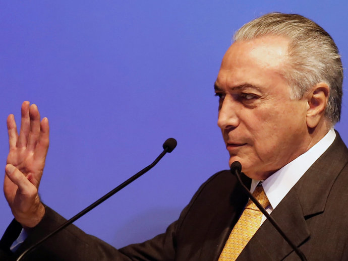 O presidente interino Michel Temer (Nacho Doce/Reuters)