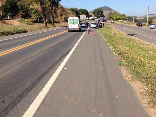 Idoso foi atropelado na manhã desta segunda-feira (11) (Foto: Edson Simões / Arquivo Pessoal )
