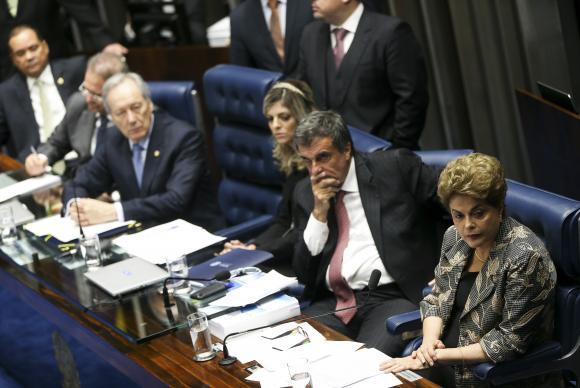 Brasília - Ontem a presidenta afastada Dilma Rousseff respondeu a perguntas de 48 senadores, em sessão que durou 14 horas Marcelo Camargo/Agência Brasil