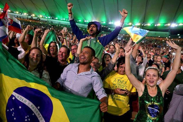 Como sempre, os brasileiros são o que o país tem de melhor, e fizeram bonito durante a abertura dos Jogos Olímpicos (foto: Damir Sagolj/REUTERS)