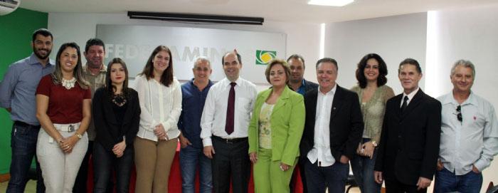 Reunião dos representantes das ACEs das cidades atendidas pela primeira fase do Projeto de Integração Regional na sede da Federaminas, em BH