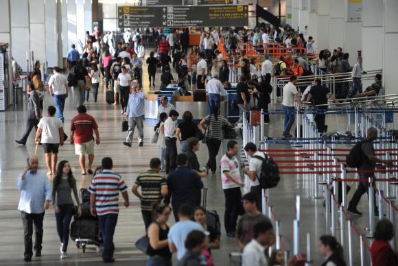Com os Jogos Olímpicos, quase três milhões de passageiros desembarcaram em nove aeroportos brasileiros FABIO RODRIGUES-POZZEBOM/ABR