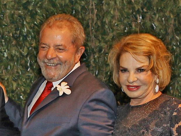 O ex-presidente Luiz Inácio Lula da Silva e a ex-primeira-dama, Marisa Letícia (Foto: Ricardo Stuckert/Instituto Lula)