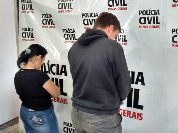 Mulher e jovem foram detidos em Ipatinga (Foto: Davidson Fortunato/InterTV dos Vales)
