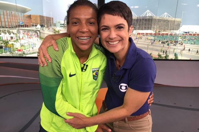 Rafaela Silva e Sandra Annenberg