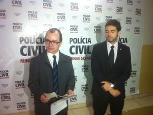 Delegados de homicídio explicaram como foi o crime (Foto: Sávio Scarabelli/G1)