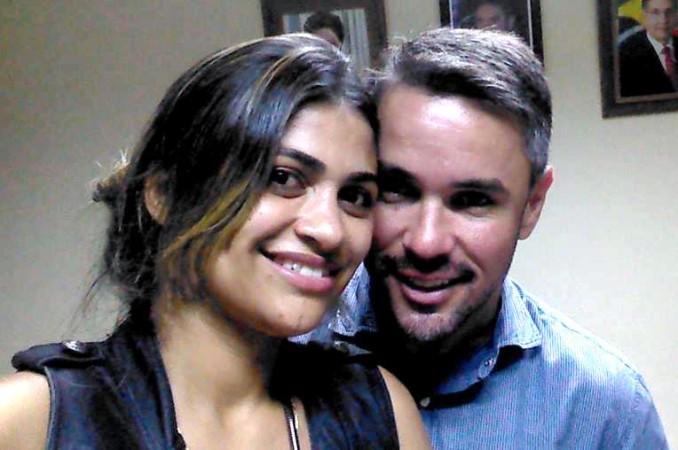 Zeliane e o prefeito Fuvio Luziano Serafim (Foto: Reprodução/Facebook)