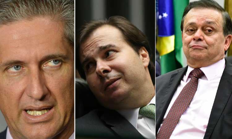 Rogério Rosso (PSD-DF) tenta chegar ao comando da Câmara, em nova disputa com Rodrigo Maia (DEM-RJ), que tem o cargo cobiçado também por Jovair Arantes (PTB-GO) (foto: Antonio Cruz/Agência Brasil — Fábio Rodrigues Pozzebom/Agência Brasil — Zeca Ribeiro /Câmara dos Deputados)
