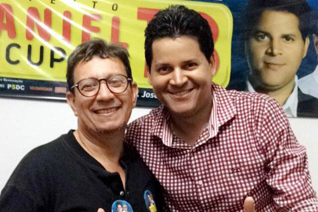 O comunicador e empresário Lula Guedes com o prefeito eleito de Teófilo Otoni, Daniel Sucupira