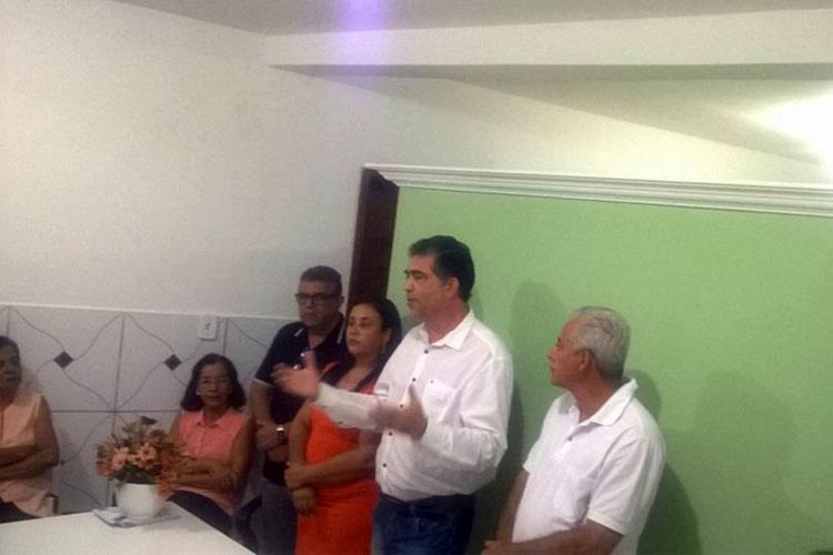 O assessor especial do governador Fernando Pimentel, Jorge Arcanjo, amigo da família, discursou durante a solenidade inaugural