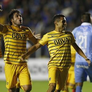 Carrizo (dir.) não vem sendo aproveitado pelo Boca Juniors (Foto: AP Photo/Juan Karita)