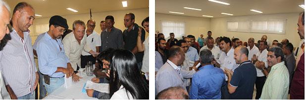 Divergências entre os prefeitos impediram a eleição dos membros do Conselho Diretor e Conselho Fiscal do CISNORJE/SAMU (fotos: Release de notícias de Aníbal Goçalves)