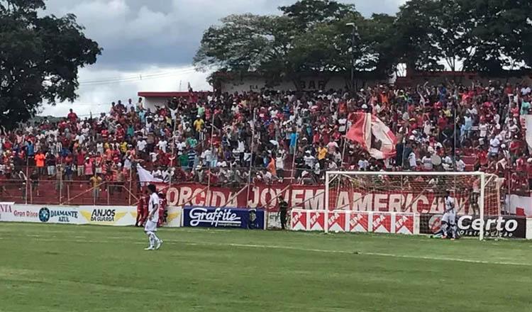 Somália marcou para o América TO contra a Caldense (Foto: América TO/Divulgação)