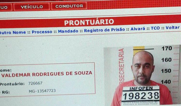 A vítima VALDEMAR RODRIGUES DE SOUZA tinha ficha criminal e portava um salvo-conduto no bolso (foto: Whatsapp | Reprodução)