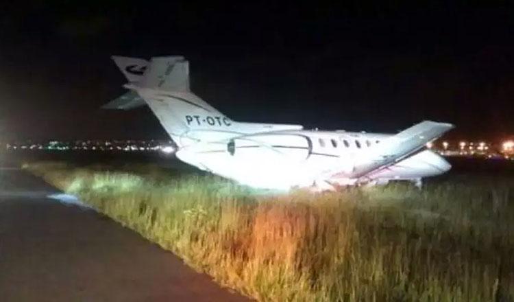 O avião que transportava o senador Aécio Neves precisou fazer um pouso de emergência em Cumbica (foto: Youtube | Reprodução)