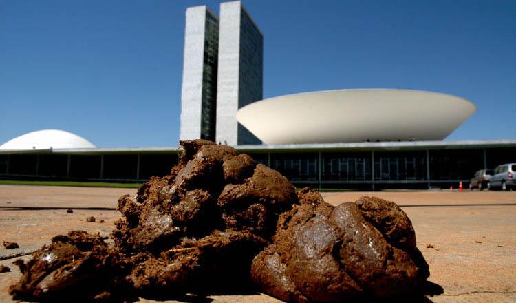 Esta foto é pra calar a boca daqueles que duvidam que o Congresso Nacional é uma bosta (foto: Reprodução do blog Fogo contra Fogo | Daniel Monteiro)