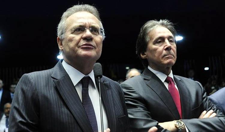 Os senadores Renan Calheiros e Eunício Oliveira em rota de colisão (foto: Geraldo Magela/Agência Senado)