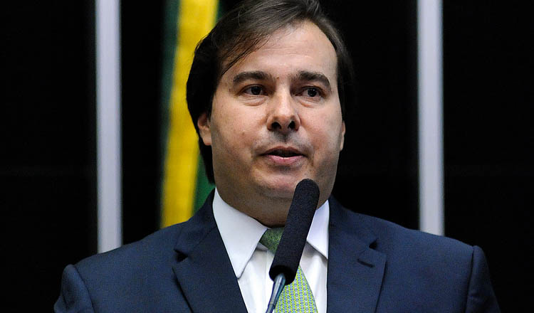 O deputado Rodrigo Maia acaba de ser reeleito presidente da Câmara dos Deputados para o biênio 2017–2019 (foto: SCO Câmara)